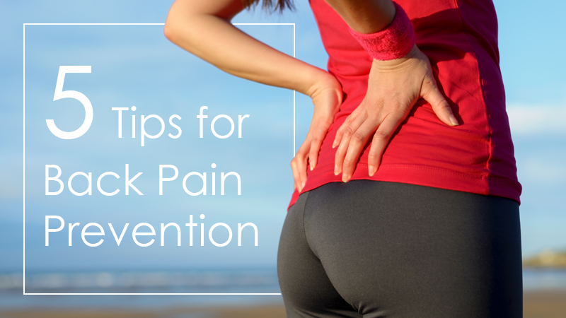 Five Back Pain Prevention Tips